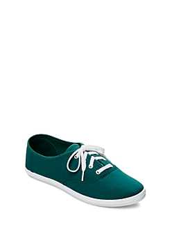 Light Teal Color Pop Canvas Sneaker By Wild Diva®