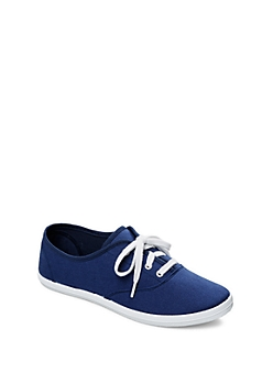 Navy Color Pop Canvas Sneaker By Wild Diva®