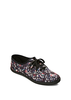 Multi Color Pop Canvas Sneaker By Wild Diva®