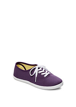 Dark Purple Color Bomb Canvas Sneaker By Wild Diva®
