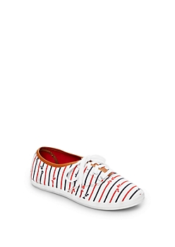White Bow Tie Sneaker By Wild Diva®
