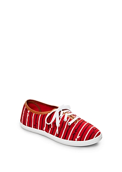 Red Bow Tie Sneaker By Wild Diva®