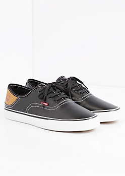 Tonal Faux Leather Low Top Sneaker By Levi