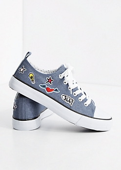 Denim Patched Low Top Sneaker