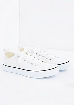 White Classic Canvas Sneaker