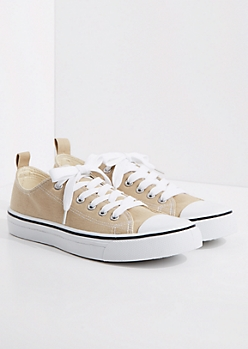 Taupe Classic Canvas Sneaker