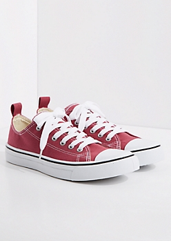 Dark Pink Classic Canvas Sneaker