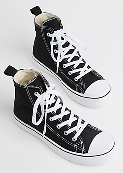 Black Classic Canvas High Top Sneaker