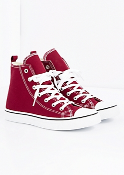 Burgundy Classic Canvas High Top Sneaker