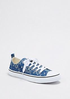 Paisley Print Canvas Sneaker