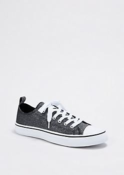 Gray Shimmer Low Top Sneaker