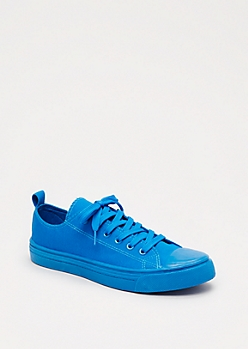 Royal Blue Canvas Low Top Sneakers