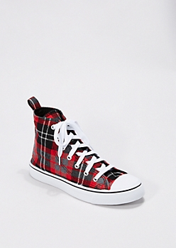 Tartan Plaid High Top Sneaker