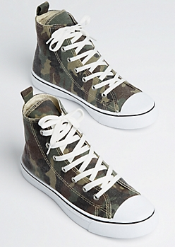 Washed Camo High Top Sneaker