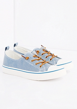 Denim Canvas Low Top Sneaker