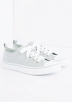 Gray Gemstone Low Top Sneaker