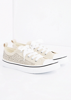 Nude Gemstone Low Top Sneaker