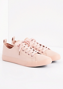 Pink Vegan Leather Low Top Sneaker by EpicStep