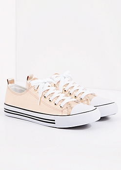 Rose Gold Metallic Low Top Sneaker by EpicStep