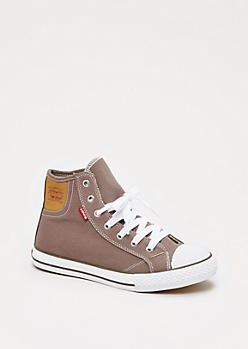 Charcoal Classic High Top Sneaker By Levi