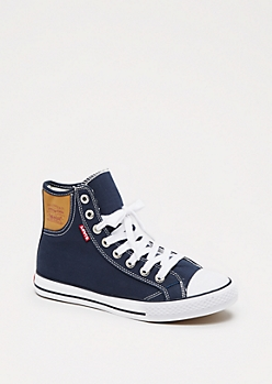 Navy Classic High Top Sneaker By Levi