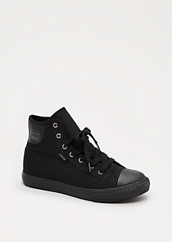 Black Canvas High Top Sneaker By Levi