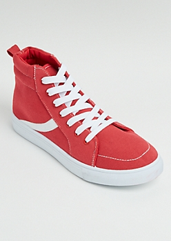 Red Striped High Top Sneaker