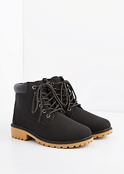 Black Hiking Boot - Wide Width