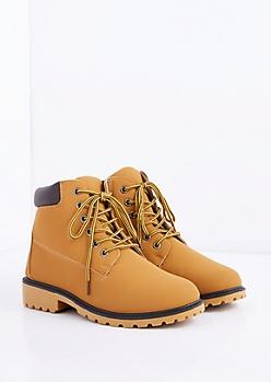 Tan Hiking Boot - Wide Width