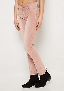 Pink Flex Corduroy Skinny Pant