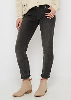 Dark Green Flex Corduroy Skinny Pant