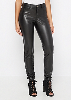 Flex Faux Leather Jegging