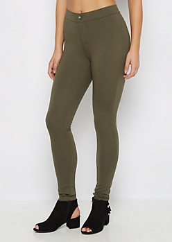 Olive Better Butt Ponte Pant