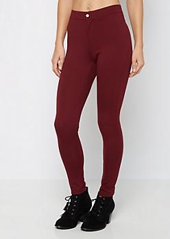 Burgundy Better Butt Ponte Pant