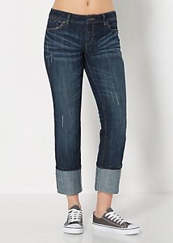 Baked Wide Cuff Skinny Jean in Curvy