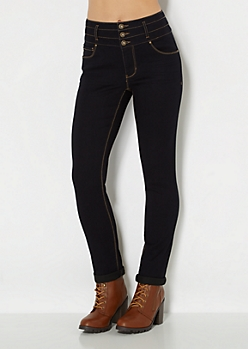 Baked High Waist Skinny Jean in Curvy Short
