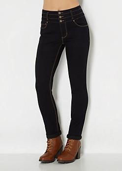 Baked High Waist Skinny Jean in Curvy Long