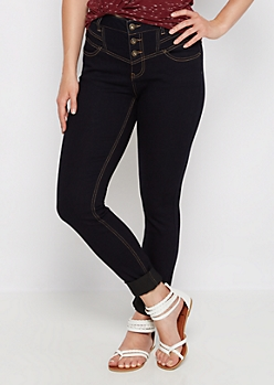 Dark Blue High Waist Jegging in Curvy