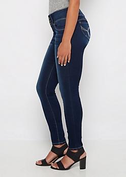 Better Butt Sandblasted 3-Shank Skinny Jean