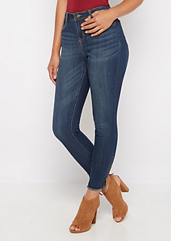 Flex High Waist Zip Ankle Skinny Jean in Curvy