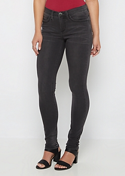 Flex Black Vintage Soft Brushed Jegging in Curvy