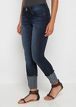 Freedom Flex Dark Sandblasted Jegging in Curvy