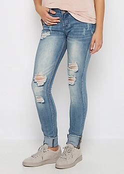 Flex Torn & Cuffed Skinny Jean in Curvy