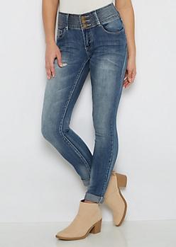 Flex Stitched Waist Skinny Jean in Curvy
