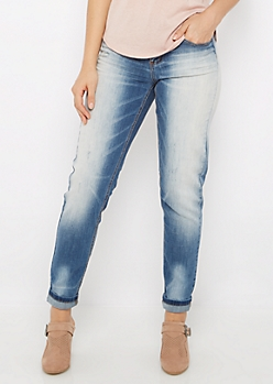 Flex Sandblasted & Scratched Skinny Jean in Curvy