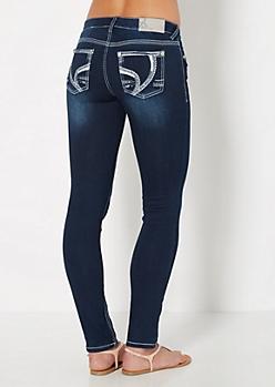 Mini Stone Vintage Skinny Jean in Curvy