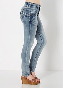Medium Blue Better Booty 4-Shank High Waist Skinny Jean