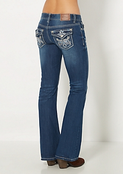 Regal Sequined Boot Jean in Curvy