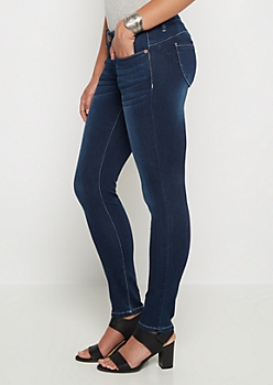 Better But Flex Dark Vintage Jegging in Curvy