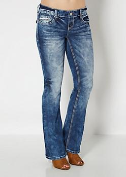 Vintage Embellished Pocket Boot Jean in Curvy
